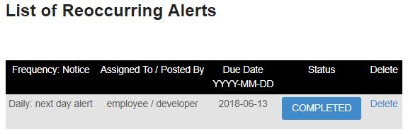 Reoccurring Alert 4
